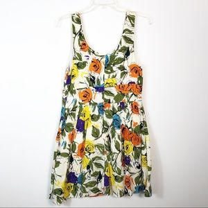 Anthropologie Pins and Needles Floral Mini Dress